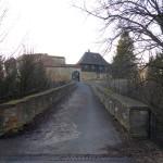 Brücke zum Eingang der Burg