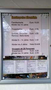 Eintrittspreise zur Bärenhöhle