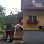 Eingang Gartenterasse Gasthof