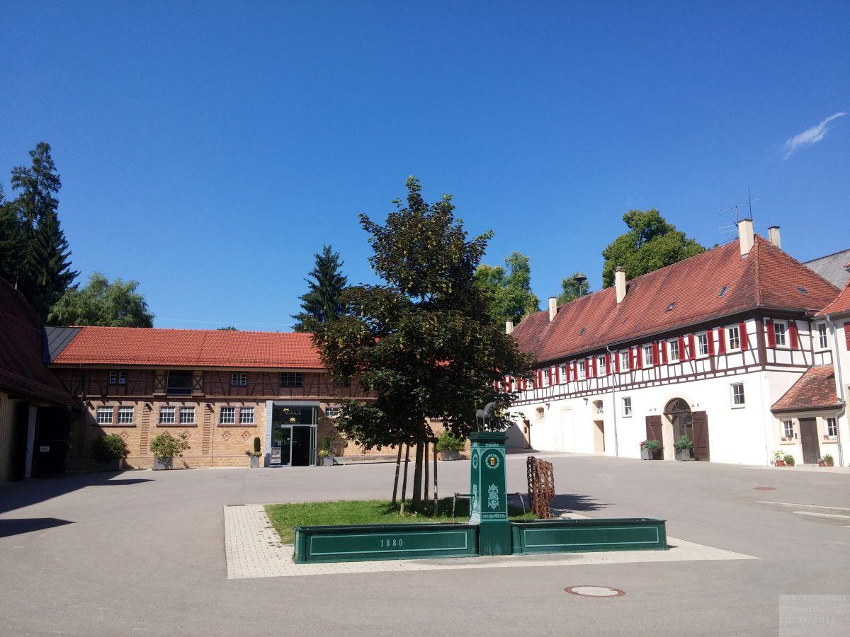 Haupt-und Landgestüt Marbach Innenhof