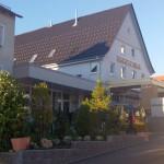 Eingang und Terrasse Hotel Hirsch