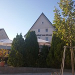 Terrasse des Hotel Hirsch bei Münsingen
