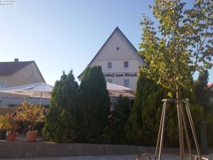 Terasse des Hotel Hirsch bei Münsingen