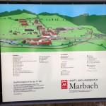 Karte mit den Gebäuden
