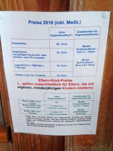 Kletterpark Lichtenstein Preise