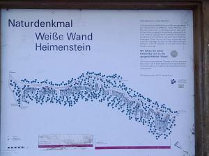 Naturdenkmal Weiße Wand Heimenstein