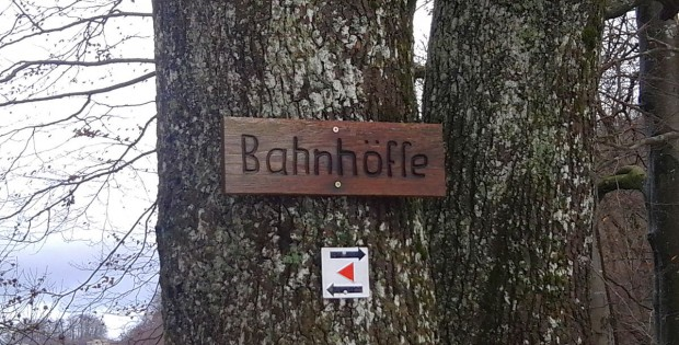 Wanderparkplatz Bahnhöfle Schild