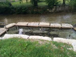 Wassertreten in der Echaz