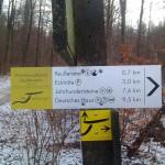 Wanderwegweiser zur Ruine Reußenstein